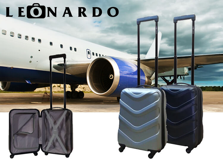 Leonardo handbagagekoffer Darwin - Mooie trolleykoffer in zilver of zwart