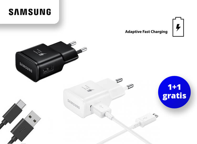 Samsung Snellader - Voor 4x sneller opladen - 1+1 Gratis