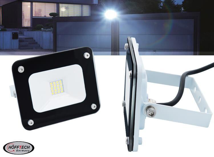 Hofftech ledstraler 10W - Slim Line Floodlight IP65 - Moderne buitenlamp