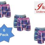 6-pack JC Boxershorts Fuchsia / Turqoise