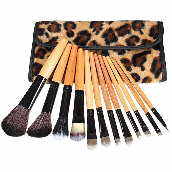 Leopard Cosmetics Make-up Brushes