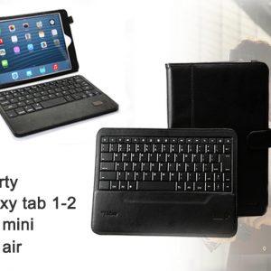 mr Handsfree Blue Tablet Cases met Qwerty Toetsenbord