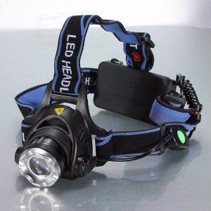 Verstelbare 1200 Lumen hoofdlamp met zoom
