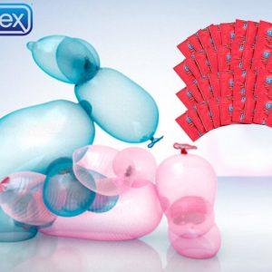 Durex condooms - Fun Explosion of Fetherlite Ultra Thin pakket - 40 stuks