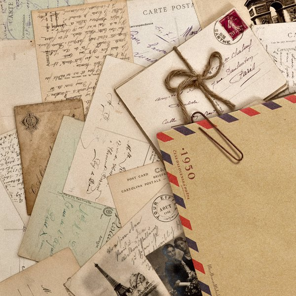 10x Vintage enveloppen