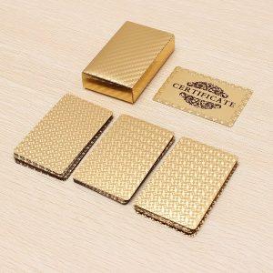24-karaats vergulde gouden speelkaarten