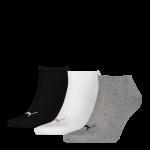 Puma sokken invisible grijs-wit-zwart 3-pack-47-49