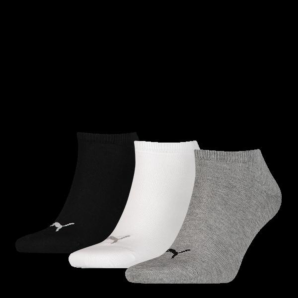 Puma sokken invisible grijs-wit-zwart 3-pack-35-38