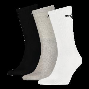 Puma sokken hoog wit-zwart-grijs 3-pack-43-46
