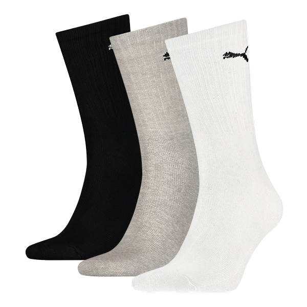 Puma sokken Sport wit-zwart-grijs 3-pack