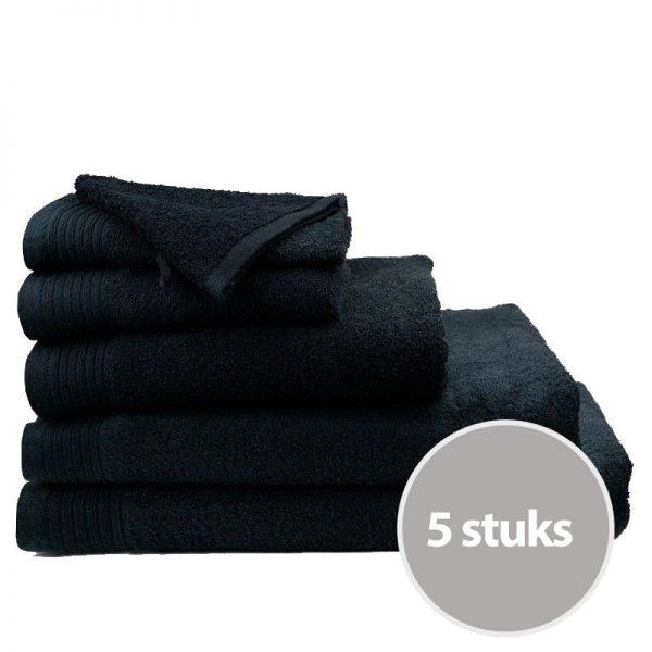 badhanddoek-deluxe-zwart-5stuks