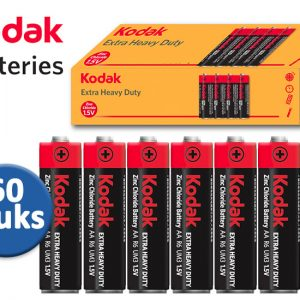Kodak Extra Heavy Duty Batterijen - 60 stuks